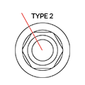 Medentika - H Serie - Stand. Abut. Angled 18° - D 5.0 GH 3.0