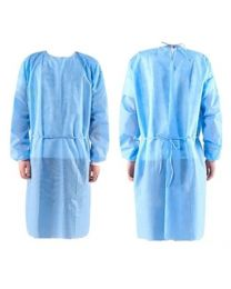 Isolation Gown - Blue - (10 pcs)