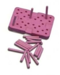 Mestra - Pink Tray For Ceramic Furnace With 20 Pins - (1 pc)