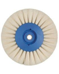 Hatho - Lathe Brush - White Goat Hair - 4 Rows Flat - Ø 80 mm - (12 pcs)