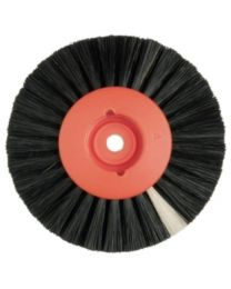 Hatho - Lathe Brush - Black - 4 Rows Flat - Ø 80 mm - (12 pcs)