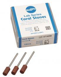 Shofu - Lab Series Stones HP - No. 3 Coral - (12 pcs)