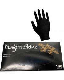 Latex Gloves - Black - Medium - (100 pcs)