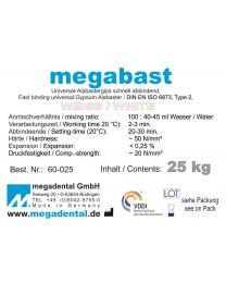 Megadental - Megabast - White - Class 2 - Fast Binding - (25 kg)