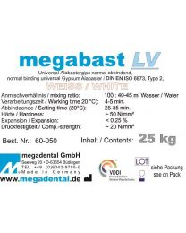 Megadental - Megabast LV - White - Class 2 - Slow Binding - (25 kg)